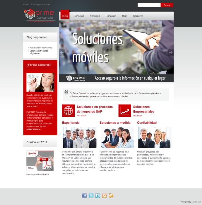 screenshot website prime consultoria