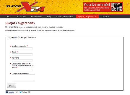 x-24 formulario de quejas y sugerencias