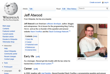 Jeff Atwood - Wikipedia, the free encyclopedia