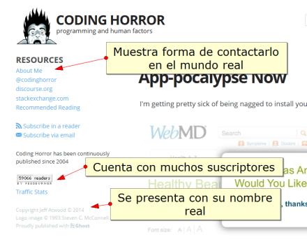 ejemplo autoría en coding horror