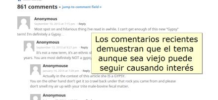 Ejemplos de comentarios