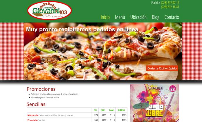 pizzas giovanni
