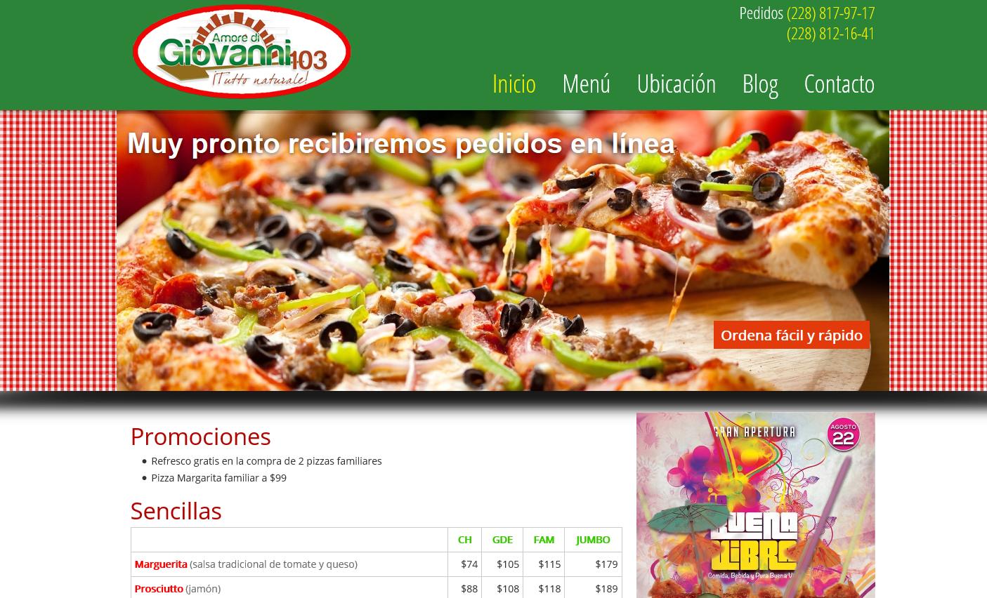 Pizzas Giovanni Sinetiks Com